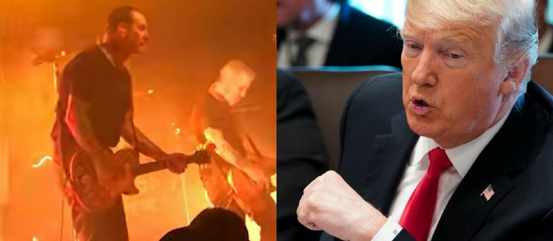 Wokalista Social Distortion zaatakował fana na koncercie. Poszło o Donalda Trumpa
