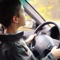 dziecko za kierownicą samochodu