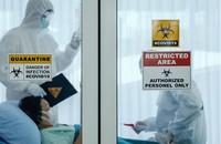 pacjent na oddziele zakaźnym w szpitalu