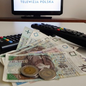 pieniądze na abonament RTV