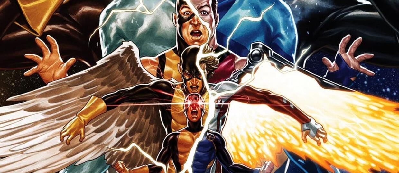 X-Men Blue i klasyczni X-Men ma okładce EXtermination #1