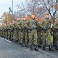 żołnierze maszerujący w kolumnie
