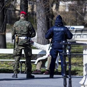 patrol policji i żandarmerii wojskowej