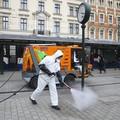 odkażanie przestrzeni publicznej w Krakowie
