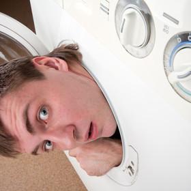 Ukrywał się w pralce