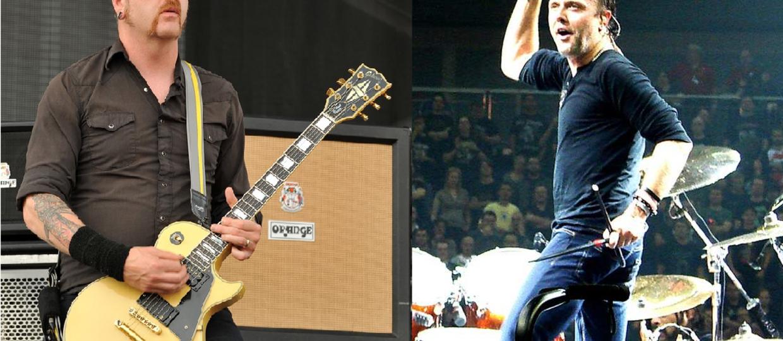 Gitarzysta Mastodon włożył penisa do kieszeni Larsa Ulricha