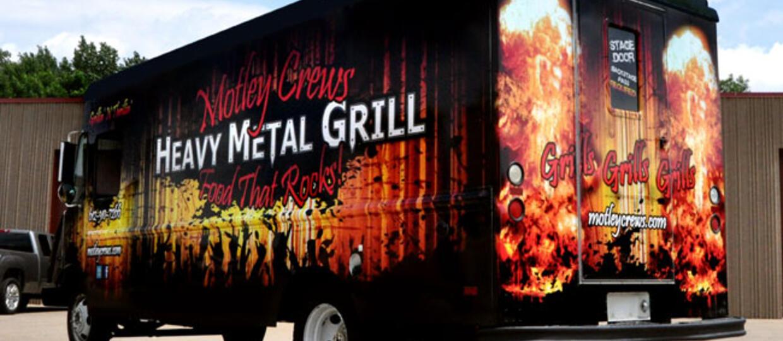 Heavymetalowy grill na kółkach eksplodował!