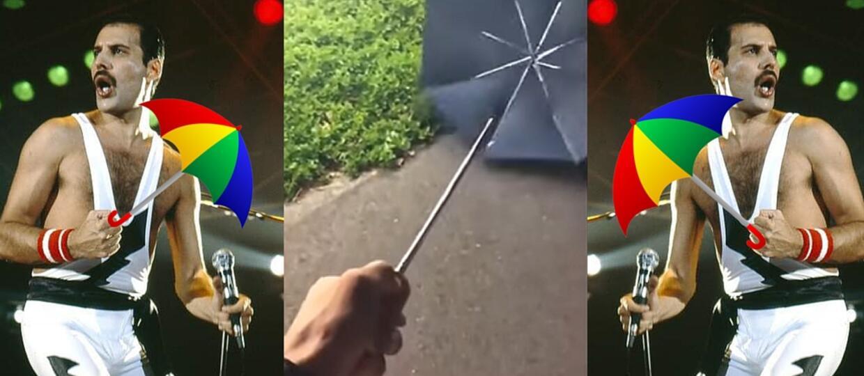 """Jak brzmi """"We Will Rock You"""" zagrany na parasolu?"""