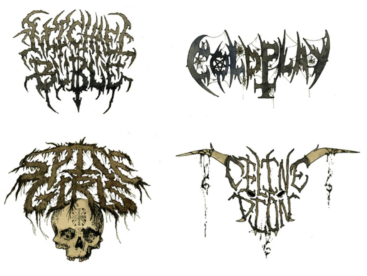 Jak wygląda logo gwiazdy pop w metalowym stylu?