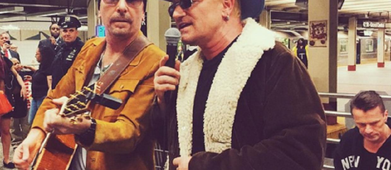 U2 zagrał koncert niespodziankę na stacji metra