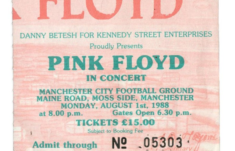 Bilet na koncert Pink Floyd z 1988 roku