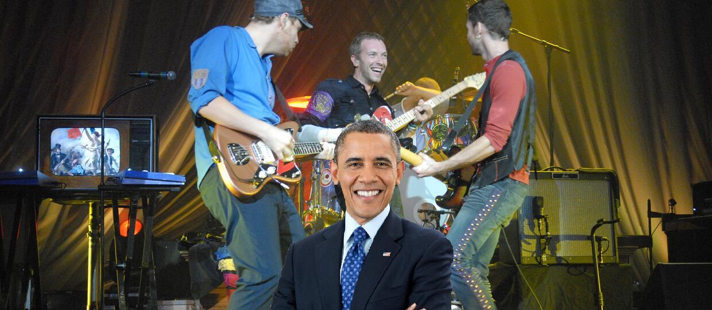 Barack Obama gościem na albumie Coldplay