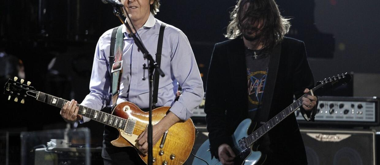 Dave Grohl i Paul McCartney grają The Beatles