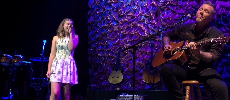 James Hetfield wystąpił z córką na jednej scenie