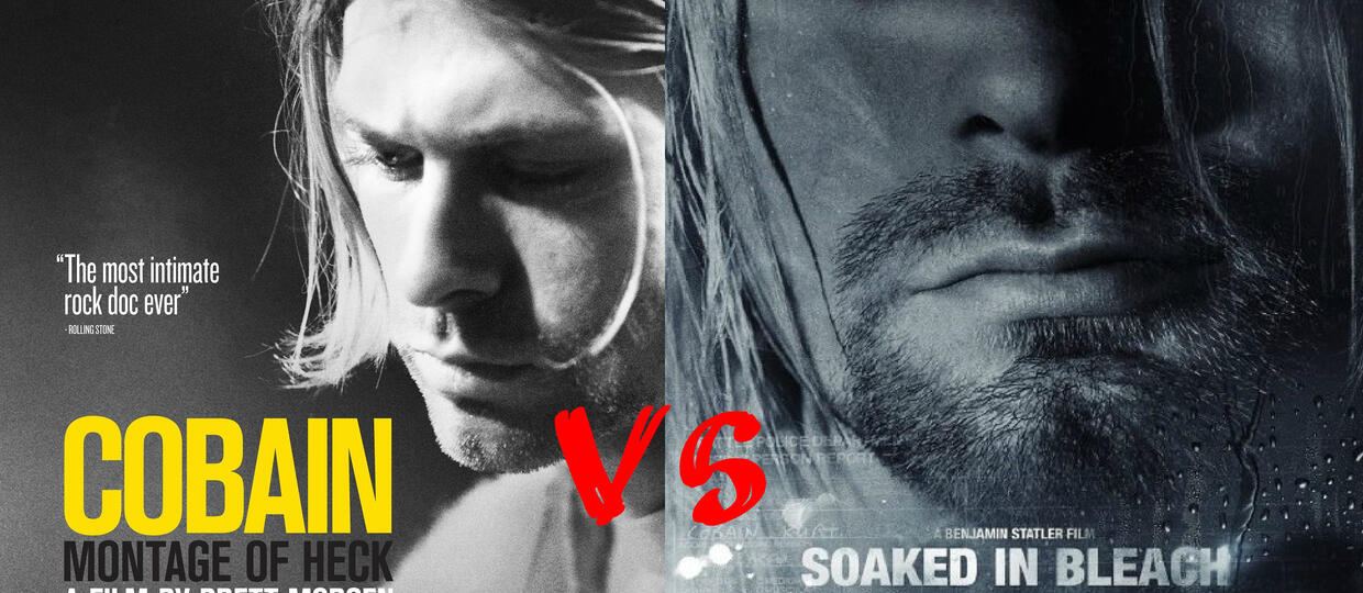"""Kurt Cobain: Montage of Heck"" vs ""Soaked in Bleach"""