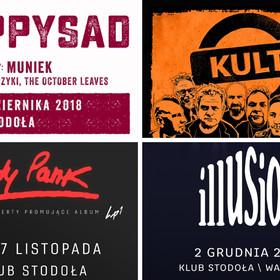 Koncerty Happysad, Kultu, Lady Pank i Illusion w Warszawie