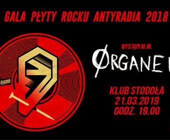 Organek na gali Płyty Rocku Antyradia 2018