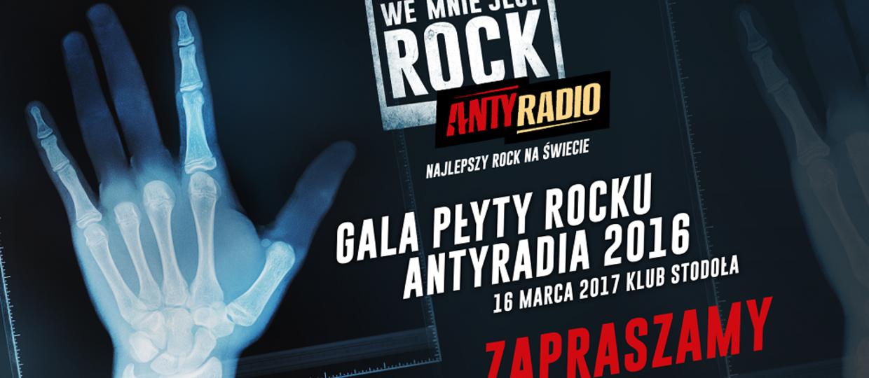 Rockowe wydarzenie sezonu - Gala Płyty Rocku Antyradia 2016