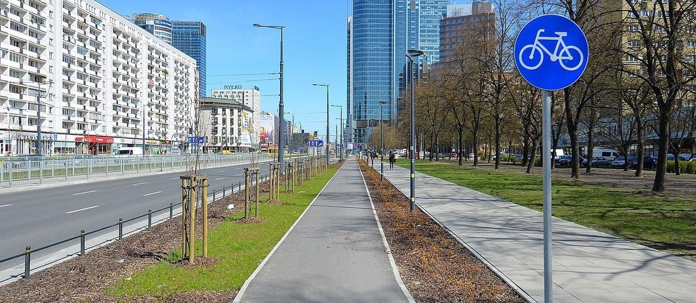 ścieżka rowerowa w Warszawie