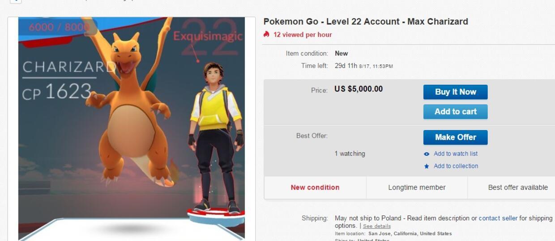 Gracze nielegalnie zarabiają na Pokemon GO