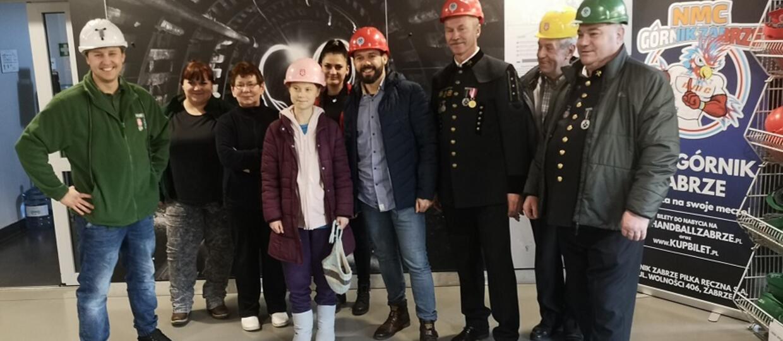 Greta Thinberg z polskimi górnikami