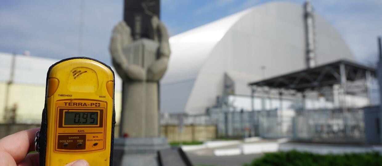 sarkofag nad elektrownią w Czarnobylu
