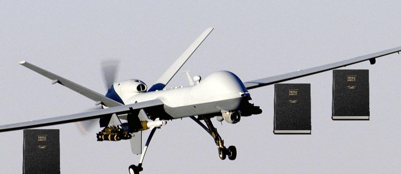 Kościół użyje dronów, by bombardować Bibliami