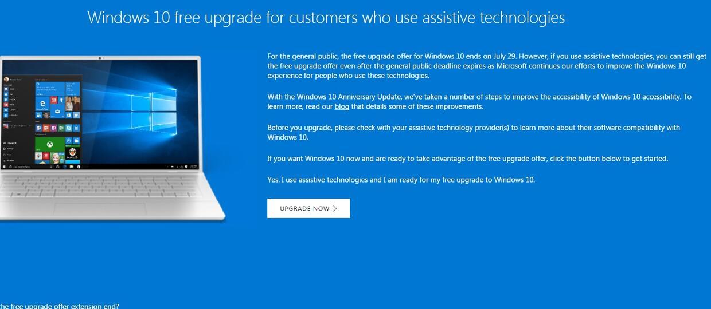 Luka pozwala na aktualizację Windows 10 za darmo?