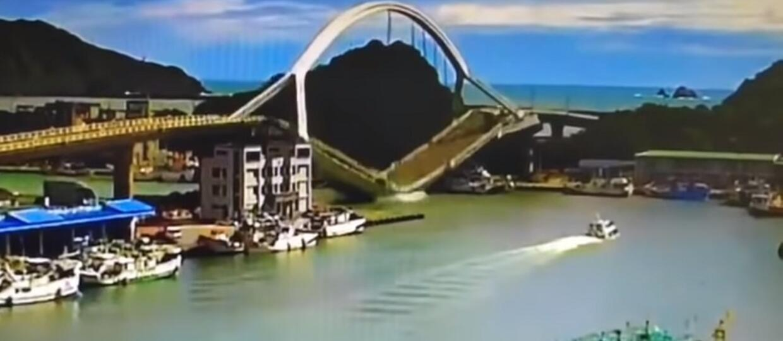 runięcie mostu na Tajwanie