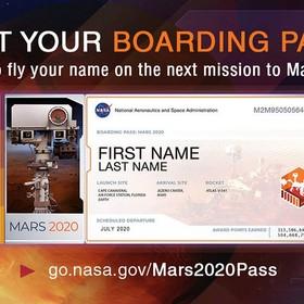 bilet na misję Mars 2020