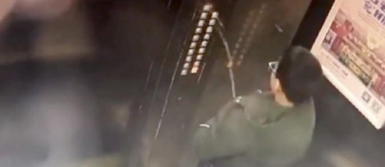 Młody Chińczyk nasikał na panel sterujący windy, doprowadził do zwarcia i utknął między piętrami