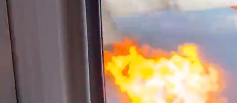 pożar silnika w Boeingu 777