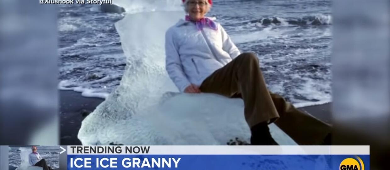 babcia na lodowym tronie