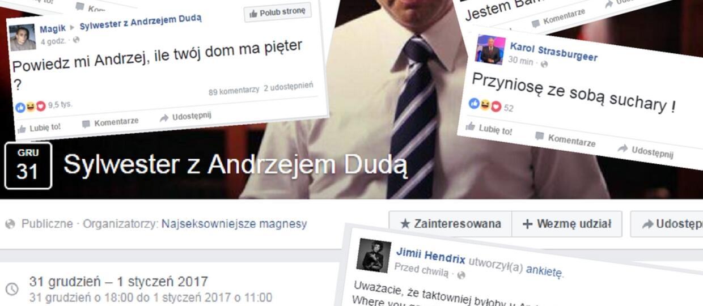 Sylwester z Andrzejem Dudą opanował Facebooka