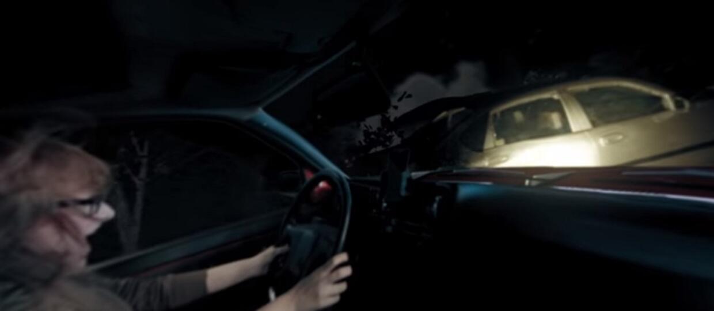 Wideo 360 stopni pokazuje wypadek po pijaku