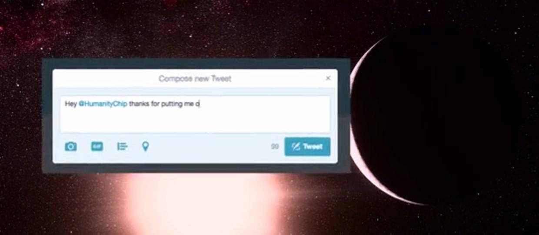 Wyślij swój tweet w podróż do gwiazd