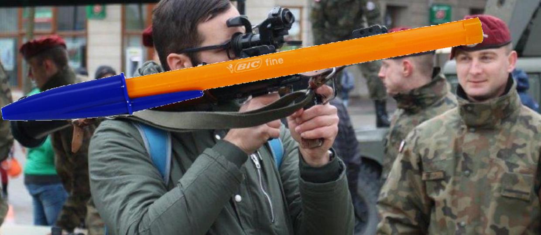 Długopisy bojowe zbyt niebezpieczne dla MON