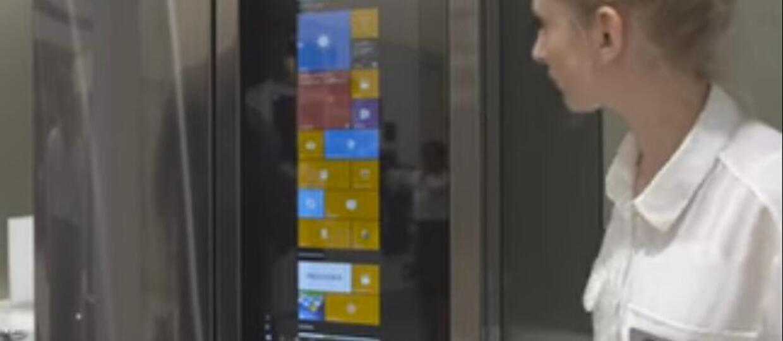 Kuchenny komputer z wbudowaną lodówką