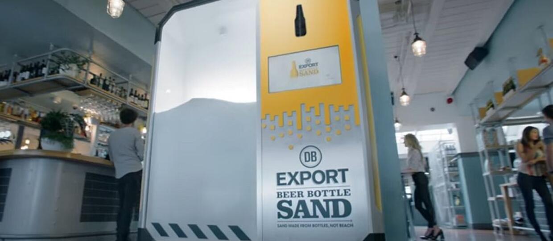 Maszyna do przerabiania butelek po piwie na plażę