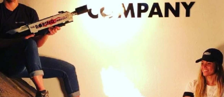 Miotacz ognia Boring Company