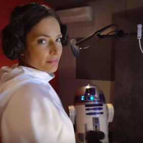 Anna Dereszowska jako Księżniczka Leia w polskiej wersji Star Wars Battlefront II