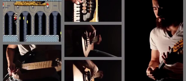 Człowiek-orkiestra w coverze muzyki z Mario