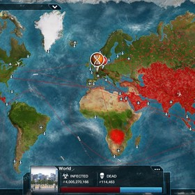 zrzut ekranu z gry Plague Inc.