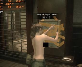 Claire z Resident Evil 2 nago