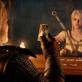 Geralt i Ciri grają w GWINTA