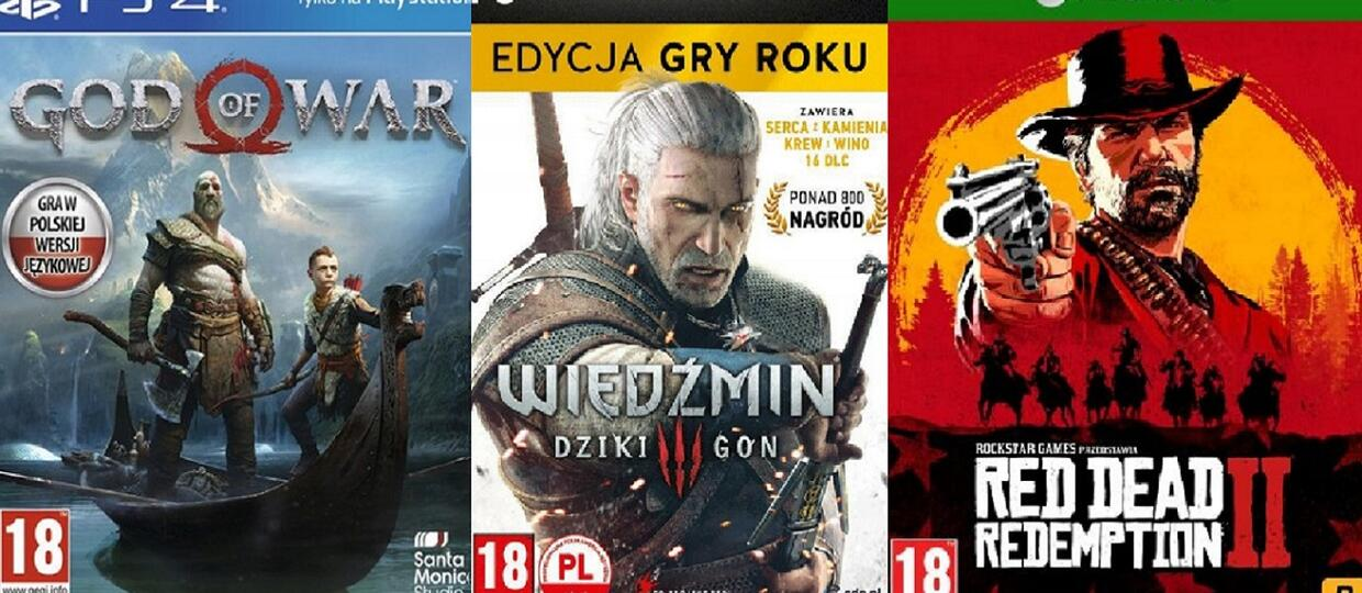 God of War, Wiedźmin 3, Red Dead Redemption 2