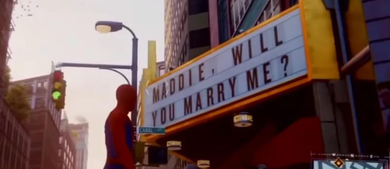 oświadczyny w Marvel's Spider-Man