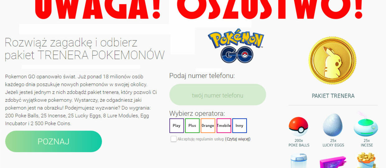 Polscy oszuści naciągają na Pokemon GO