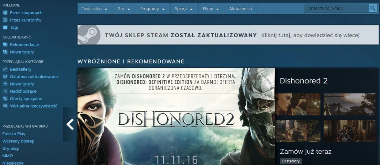 Steam ujawnił nowe oblicze sklepu