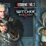 Geralt i Ciri w Resident Evil 2
